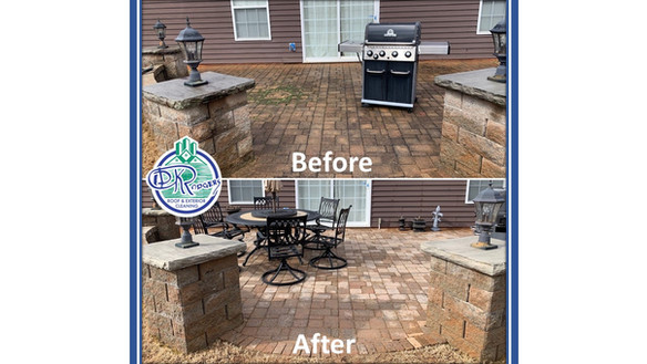 Before & After - Residential Patio Clean