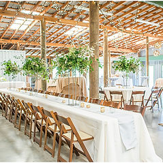 indoor and outdoor event space with climate controlled event barn with HVAC system near Greenville SC in Upstate South Carolina