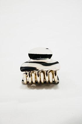 Striped Mini Claw Hair Clip