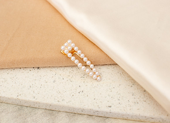 Open Traditional Pearl Hair Clip