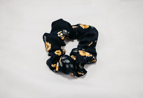 Yellow Flower Scrunchie