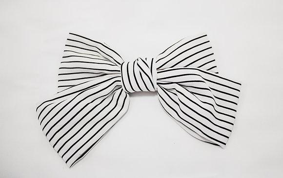 Big White Bow Clip