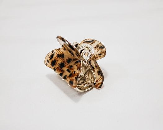 Animal Print Mini Claw Hair Clip