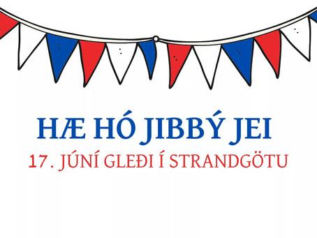 17.júní gleði í Strandgötu