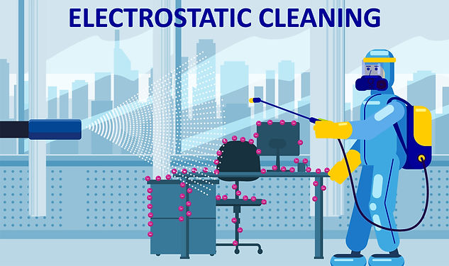 illustration of electrostatic cleaning