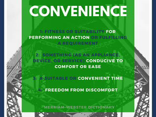 What do we mean by 'convenience'?