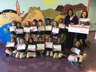Sela's Student of the Month Celebration!