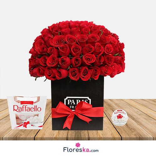 Bouquet de 180 Rosas +Raffaello