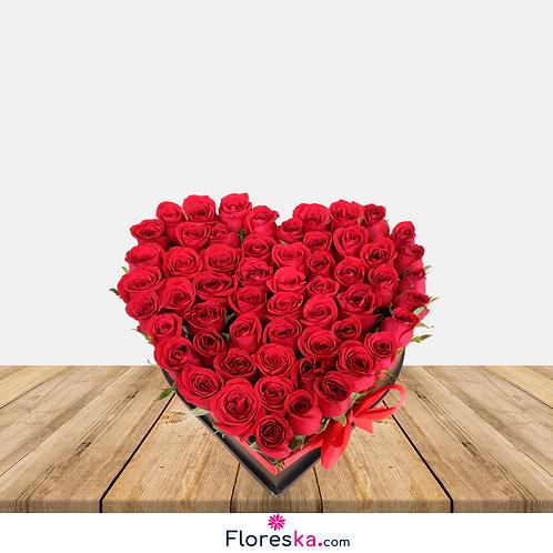 Corazón Grande de Rosas