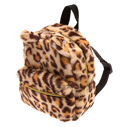 Mochila Peluda Leopardo