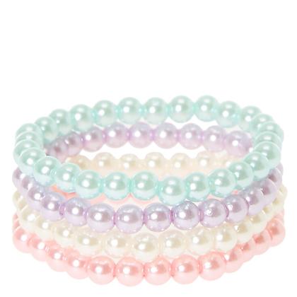 Pulseras Perlas de Colores