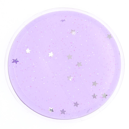 Esponja de Silicona Lila con estrellas