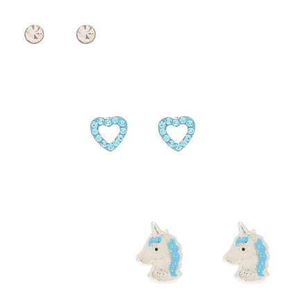 Kit Aretes x 3 Unicornio