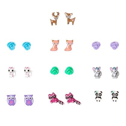 Kit Aretes x 10 Cute Animals