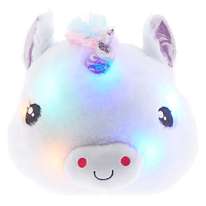 Almohada de Unicornio con Luces
