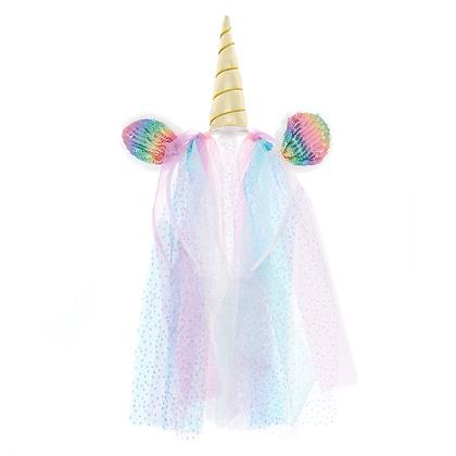 Tiara Unicornio con Velo