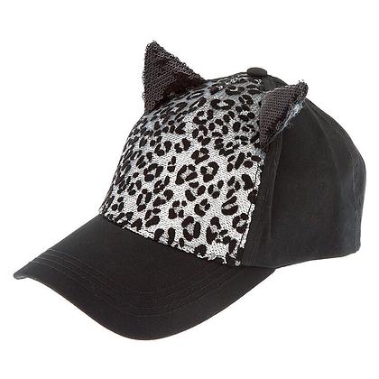 Gorra Leopardo Gato Lentejuelas