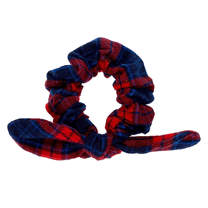 Scrunchie Cuadros Azul·Rojo