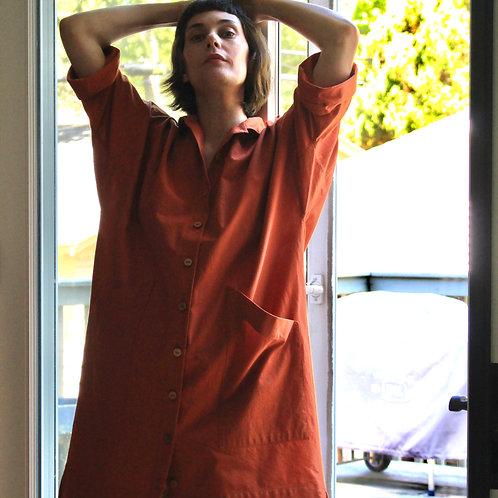 Box Dress – Rust Organic Cotton