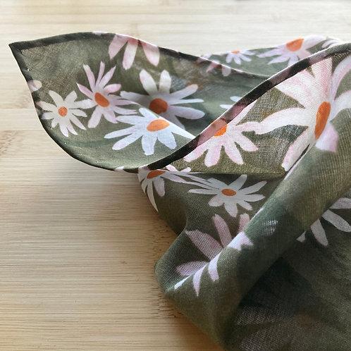 Super Soft Organic Cotton Handkerchief – Daisy