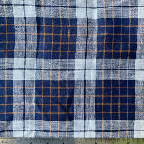 Navy-White-Gold Plaid
