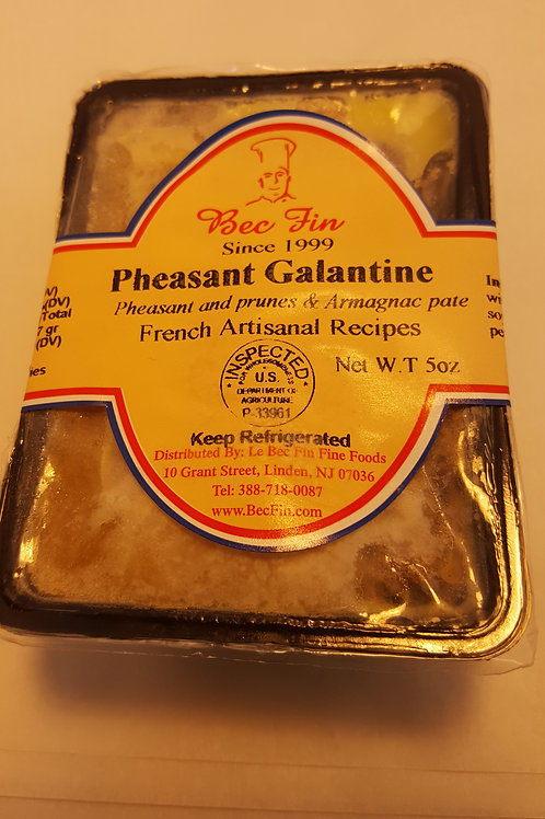 Galantine de Faisant  à l' Armagnac 5 oz