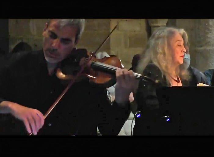 Martha Argerich and Sebastien Surel