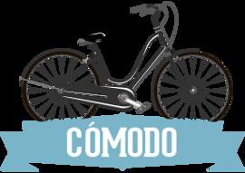 Aparcamiento cómodo para bicicletas