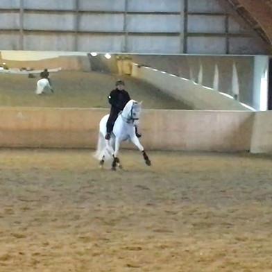 Athos X och Jessica under dagens träning