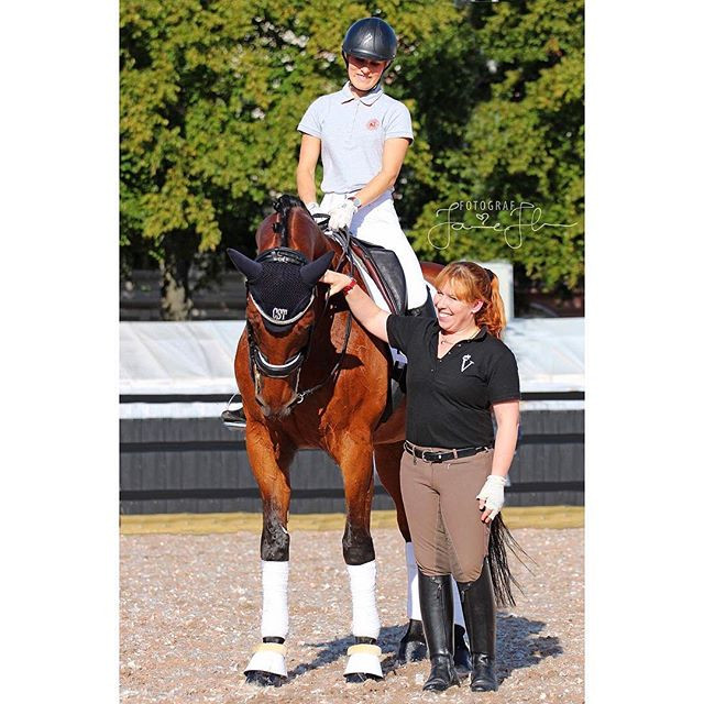 @fndressage and Jessica after the first