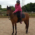 1st time alone on bella horse riding