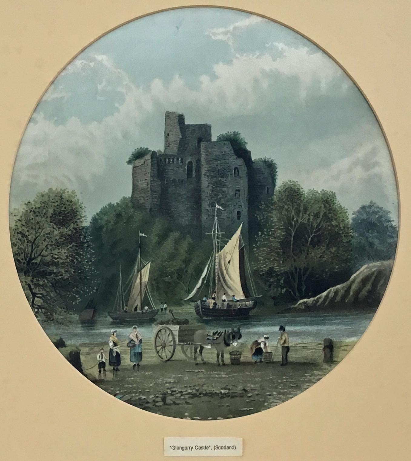GLENCARRY CASTLE ETCHING