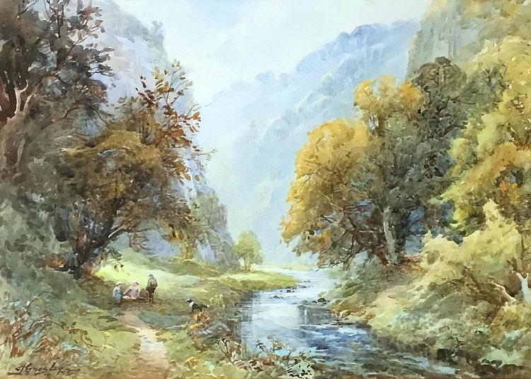 Harold Greasley (1892 - 1967) Dovedale watercolour.jpg