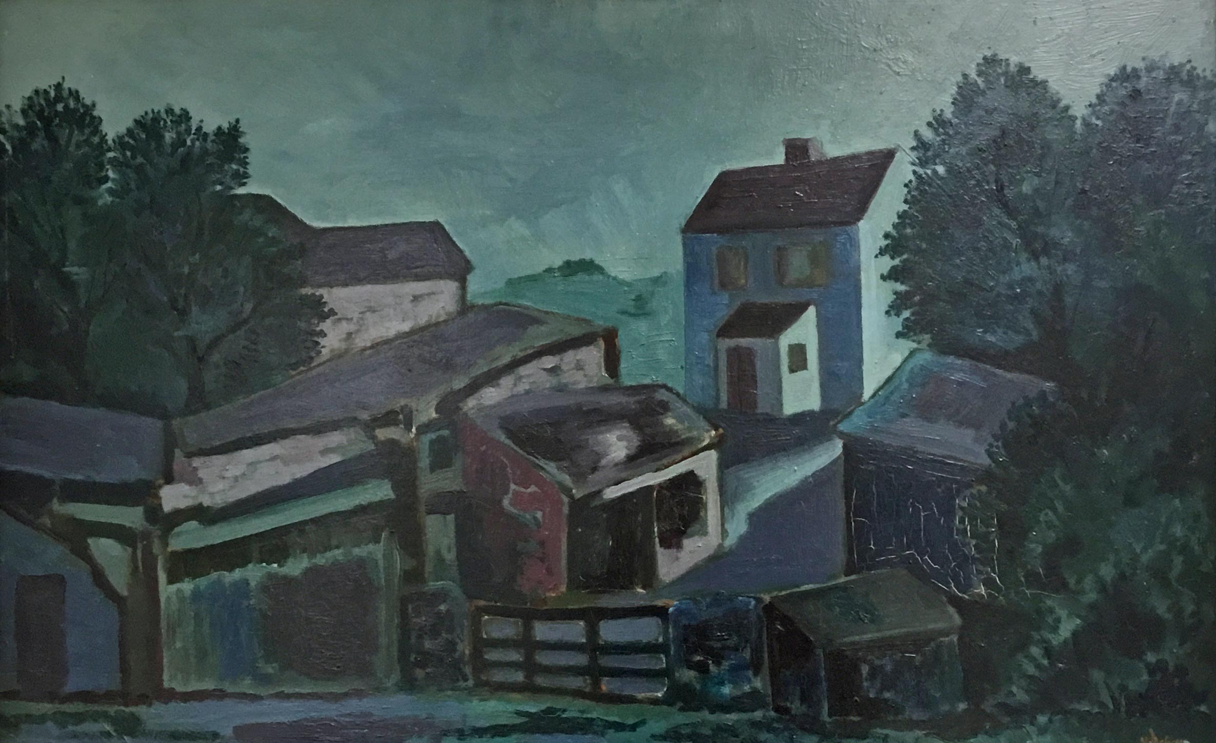 OIL ON BOARD N. ASH