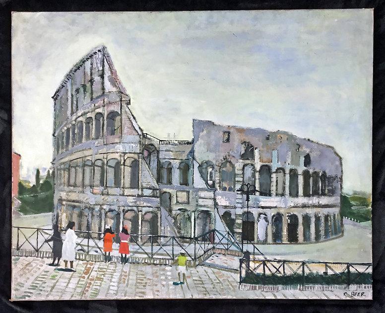 RICHARD BEER (1928 - 2017) oil on canvas, colloseum, Rome.jpg