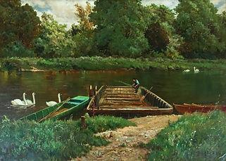Alfred de Breanski oil on canvas.jpg