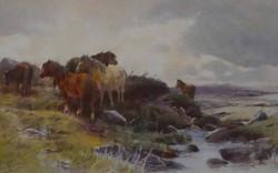TOM ROWDEN (1862 - 1926) WATERCOLOUR