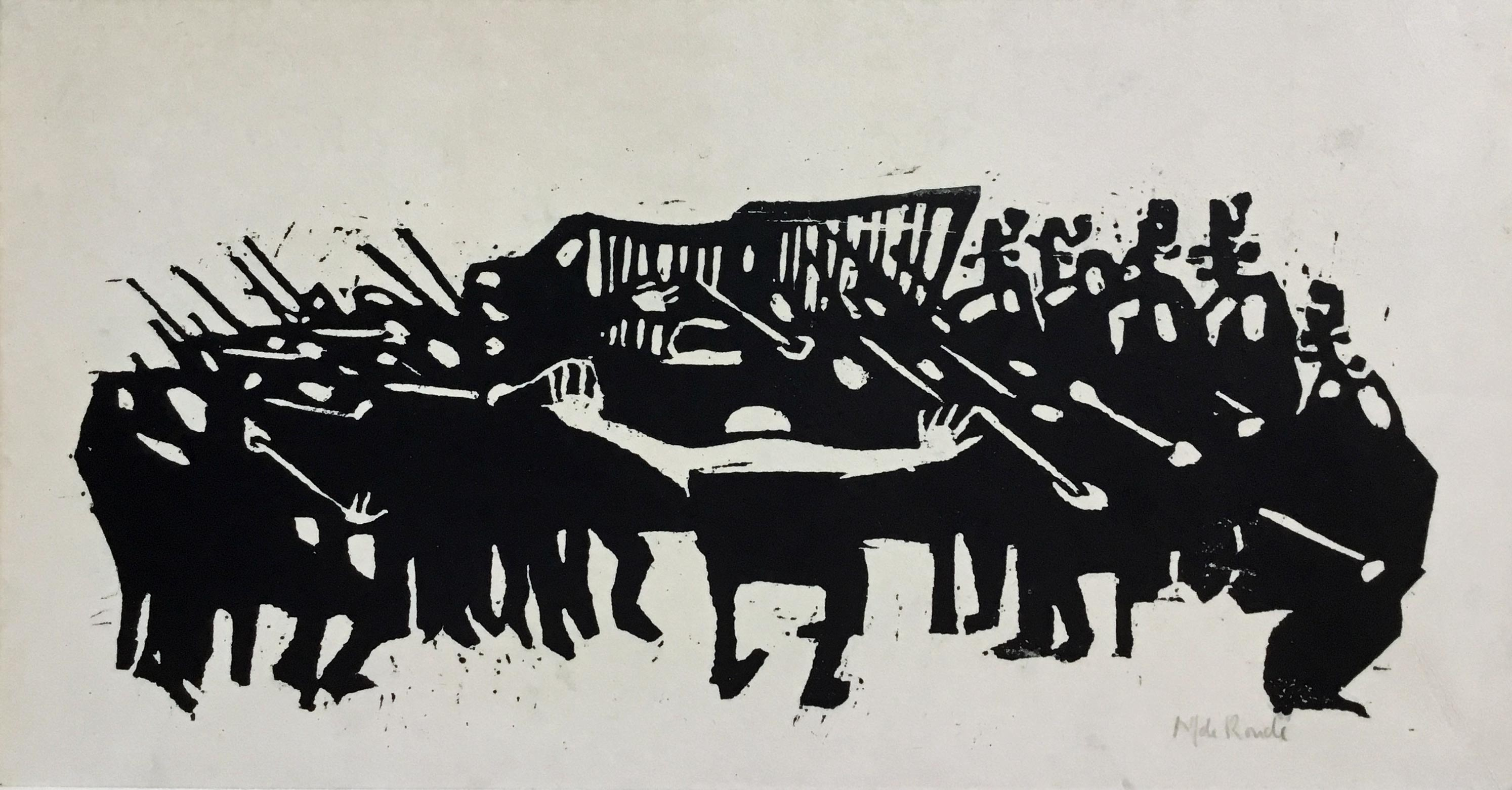 LINO CUT ABSTRACT ORCHESTRA