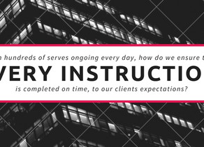 Ensuring every instruction runs on time, to our clients expectations