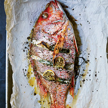 Whole Roast Fish with Lemon and Herbs