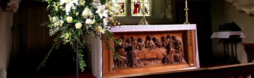 The carved altar