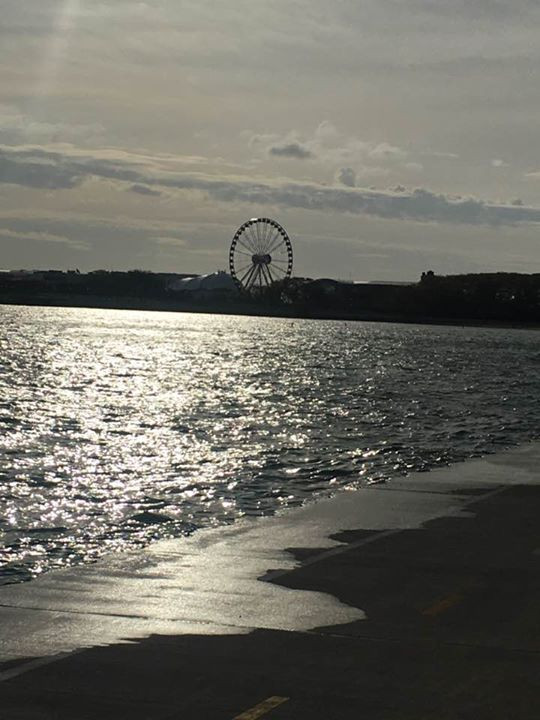 View of Navy Pier from Oak Street Beach, Chicago