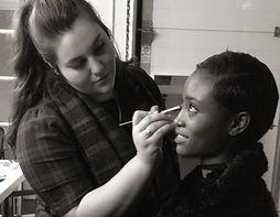 Rebecca working on Model Alicia Burke