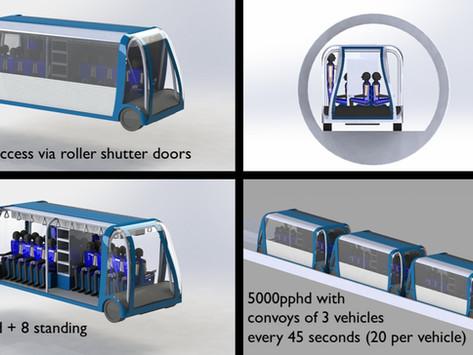 CamCross: An innovative concept for the Cambridge Autonomous Metro - Part 2 - Vehicles