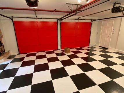 Custom garage paint job