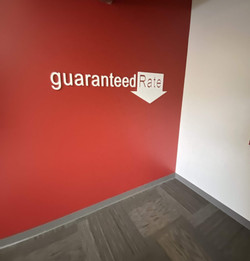 A new logo wall for a commercial client of Meadows Painting