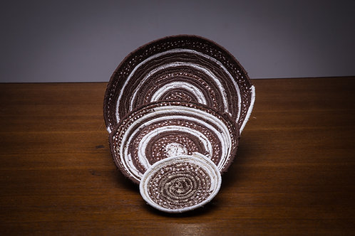 Chocolate Trio Rope bowl set