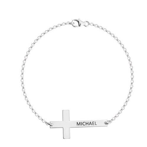 Bracelet Croix Gravée