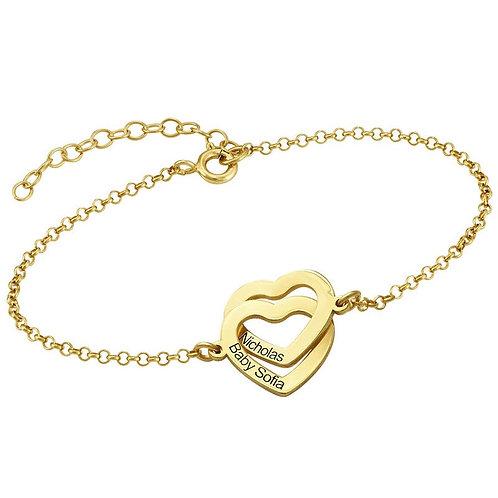 Bracelet Cœurs Entrelacés
