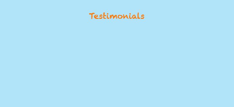testimonial background